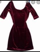 Seksowna welurowa sukienka New look