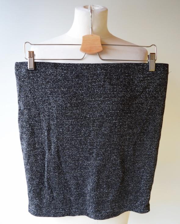 Spódniczka Vero Moda XL 42 Srebrna Brokatowa Mini