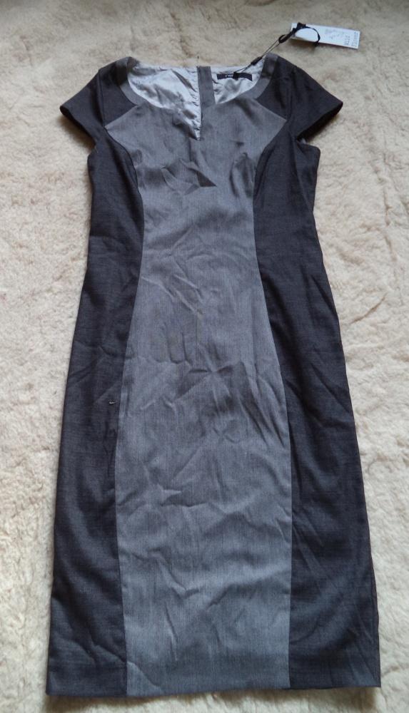 Sukienka midi w dwóch odcieniach szarości...