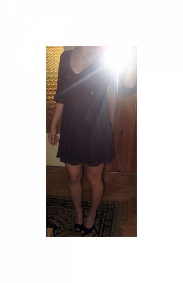 Suknie i sukienki sukienka fioletowa HM 36 S zwiewna super