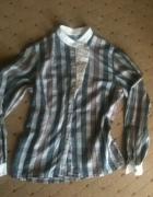 bluzka koszulowa w kratkę...