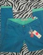 NEW YORKER turkusowe przecierane spodnie L 40 NOWE