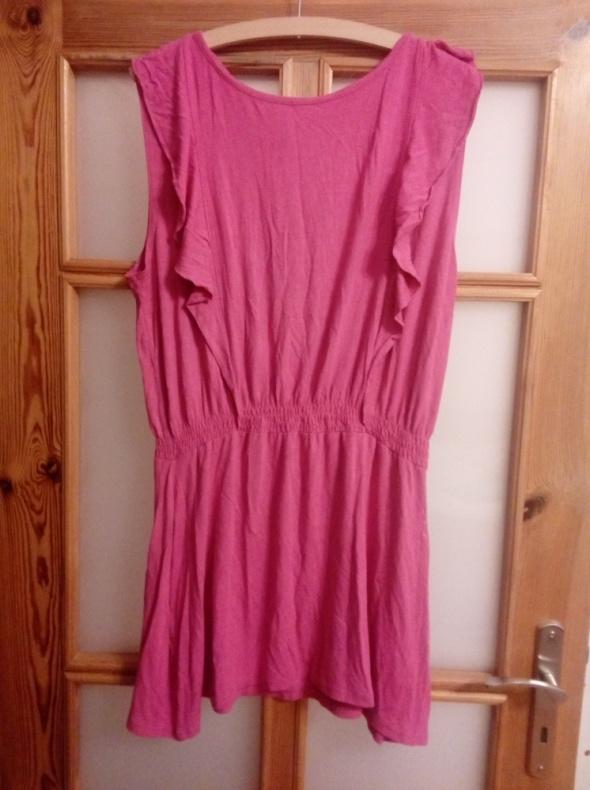 Różowa tunika sukienka L XL