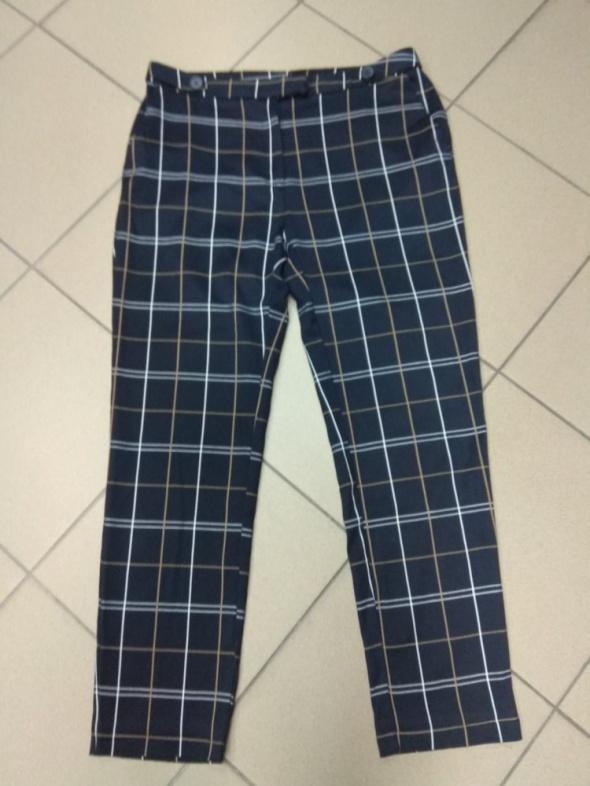 Spodnie granatowe krata kratka 42 XL