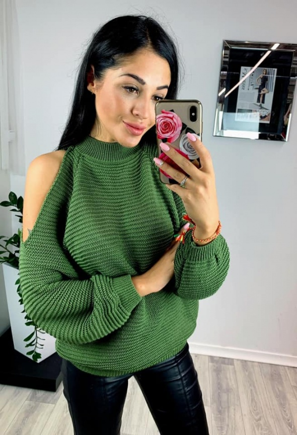 Zielony sweterk