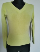 Pistacjowy seledynowy sweter sweterek xs s...