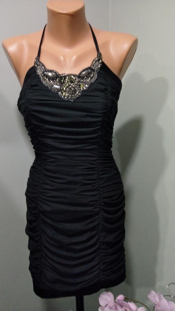 sukienka black sylwestrowa wieczorowa XS S