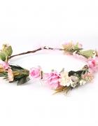 Nowy wianek kwiaty róże różowe zielone korona kwiatowa flora ko...