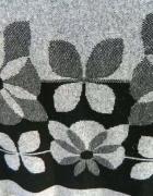 Szara w kwiaty luźna tunika XL...
