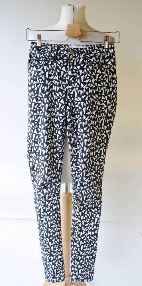 Spodnie Wyższy Stan Wzory Pieces XS S 34 36...