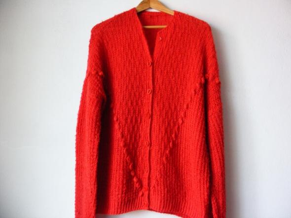 Czerwony wełniany sweterek R 42 44