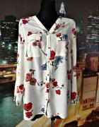 koszula damska modny kwiatowy wzór kwiaty floral jak nowa 42 XL...