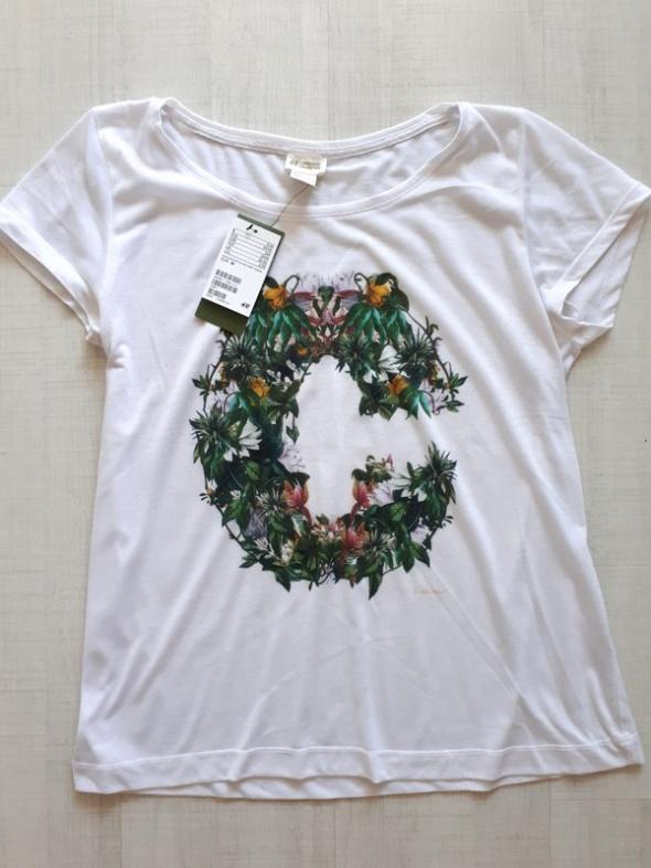 H&M Super koszulka z nadrukiem M