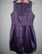 Piękna krótka sukienka bombka bez rękawków na bal...