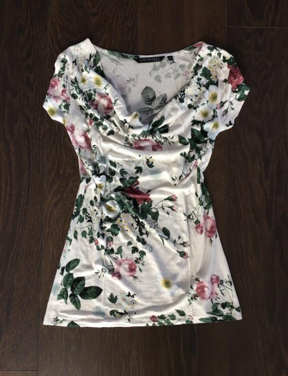 Bluzka w róże kwiaty Top Secret 34 XS floral...