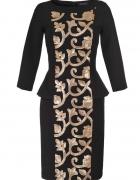 Sukienka złota aplikacja studniówka Zara H&M retro 34 XS...