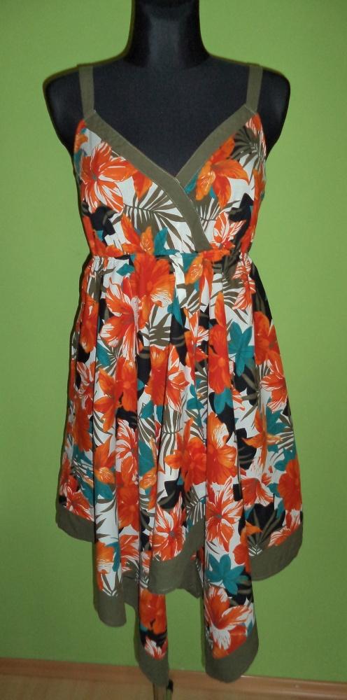 Sukienka kopertowa kwiaty...