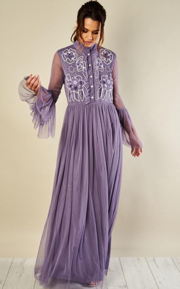 Sukienka maxi Lace&Beads Fer Maxi Violet rozmiar S...
