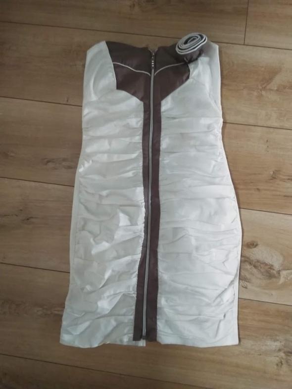 marszczona sukienka z zzipem