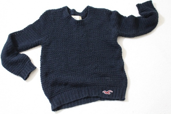 Swetry GRANATOWY SWETER HOLLISTER XS