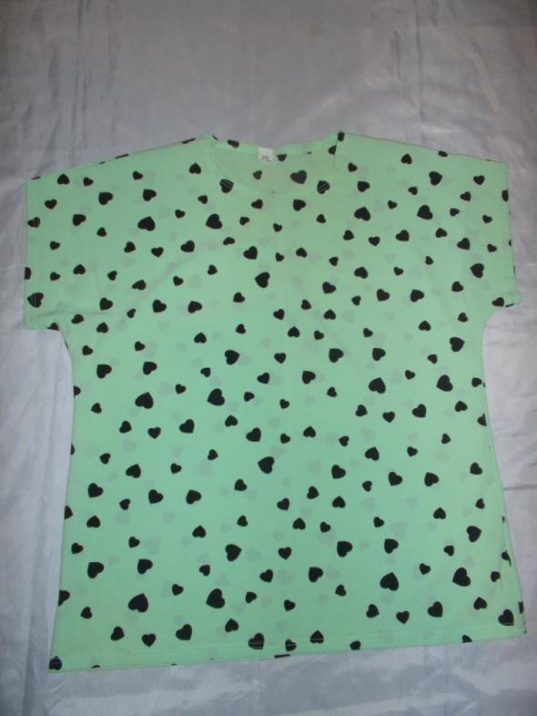 Bluzka bluzka z krótkim rękawem bluzka w serduszka 42 44 46