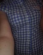 Biało niebieska koszula w kratkę...