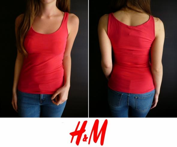 różowy top h&m xs 34 koszulka bluzka bokserka...