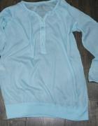 Niebieska przyroczysta włoska bluzka 38...