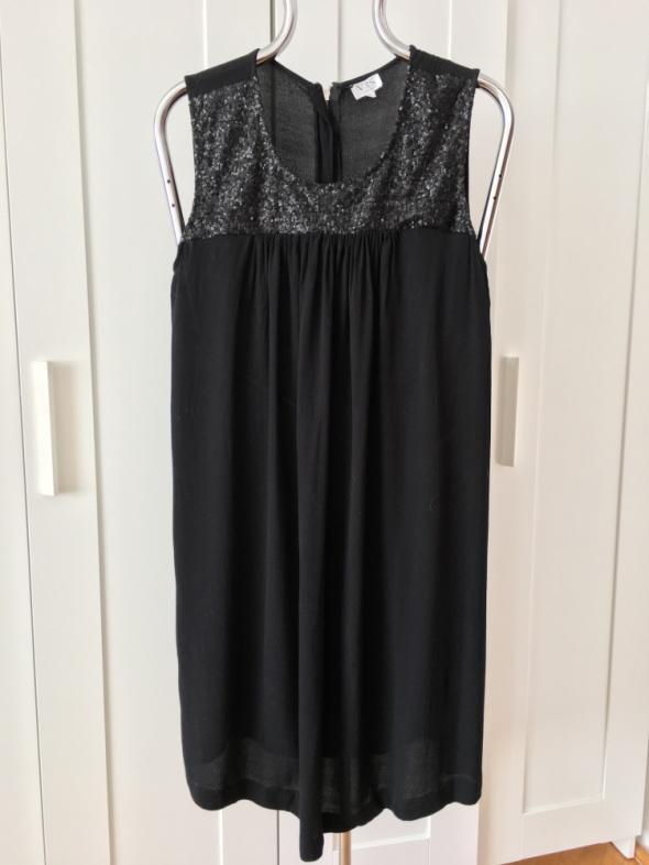 Elegancka wizytowa tunika sukienka z cekinami rozm L