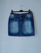Krótka spódniczka z jeansu S...