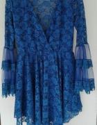 Sukienka tiulowa chaber koronka mega rękawy...