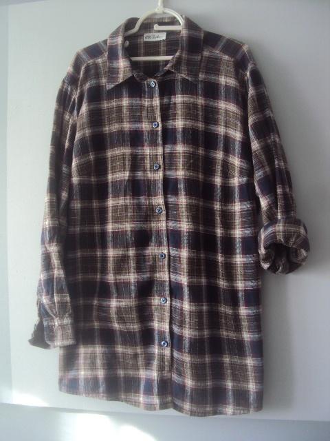 flanelowa koszula w krate