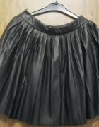 spódnica eco skóra S czarna f&f rozkloszowana...
