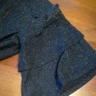 Czarna błyszcząca bluzka rękaw 3 4