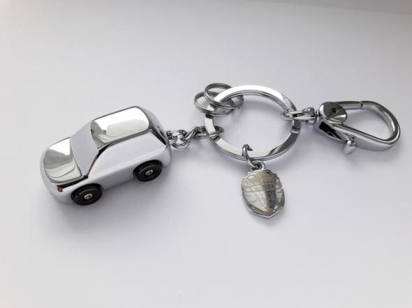 Milesi car led auto brelok do kluczy MĘSKI srebrny ekskluzywny