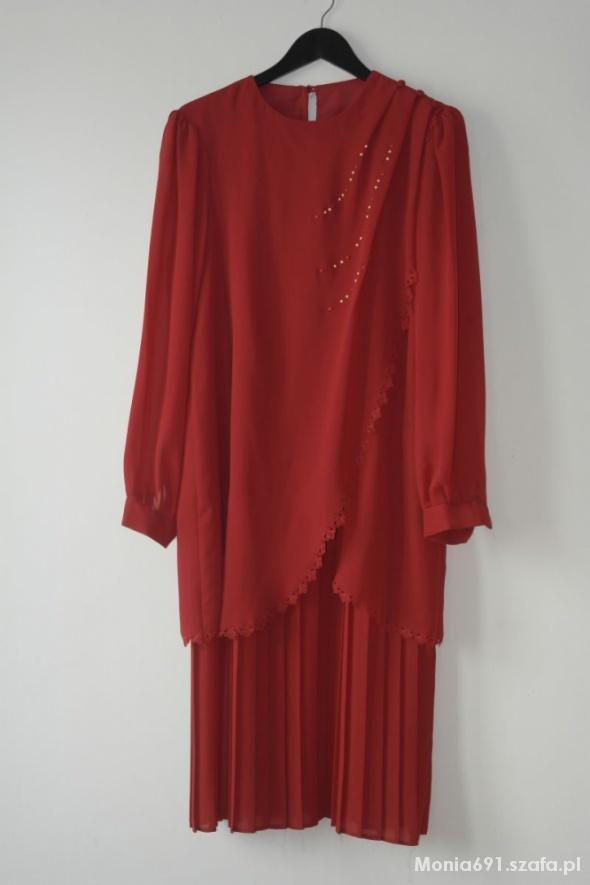 czerwona wyjściowa sukienka r 42