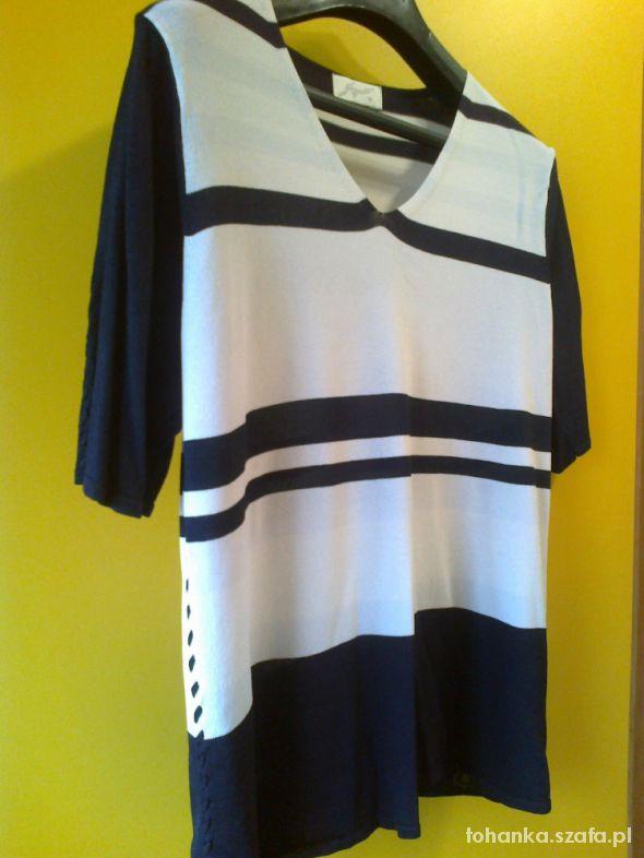 Bluzki Biało czarna bluzeczka 42