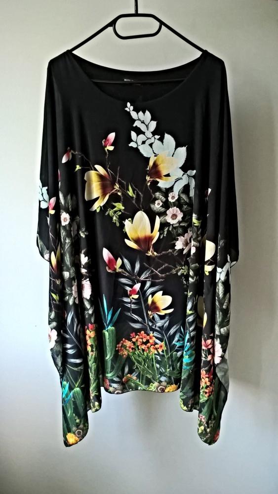 Sukienka tunika w kwiaty M L XL oversize