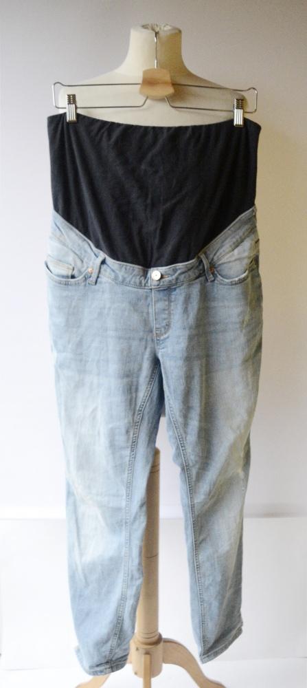 Spodnie Spodnie Lindex Mama Dzinsowe XXL 44 Przetarcia Ciążowe Mom