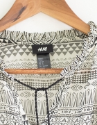 H&M lekka bluzka tuniczka boho M...