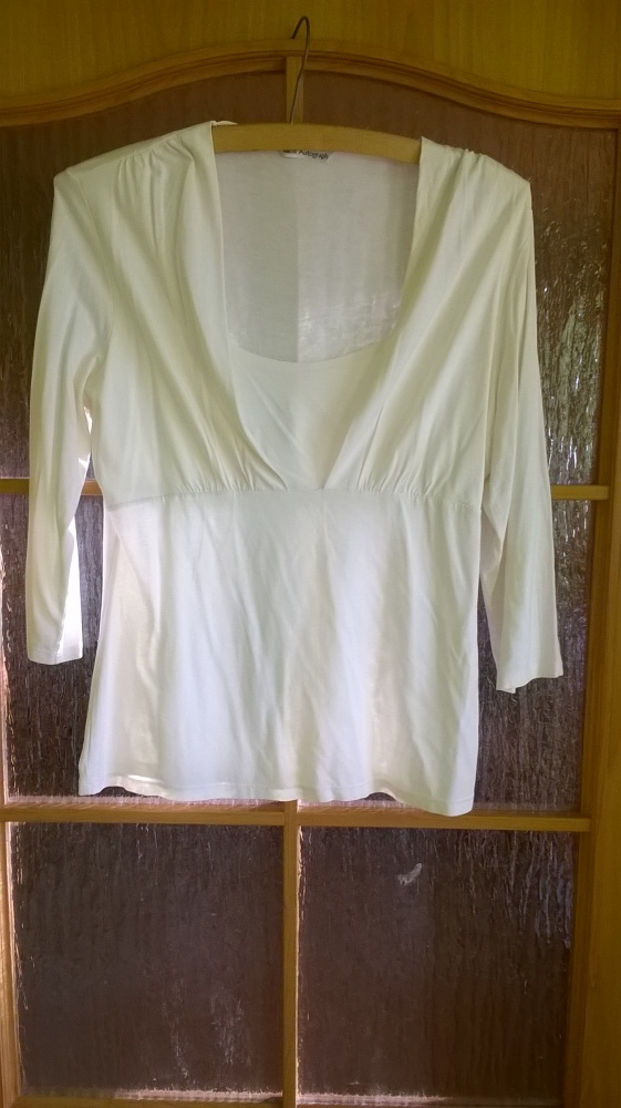 Elegancka bluzka w kolorze ecru 40 42...