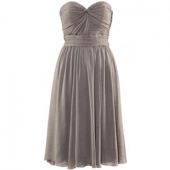 szara sukienka midi hm 38