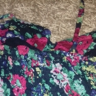 Falbankowa sukienka na lato w kwiatki rozm M cena z wysylka