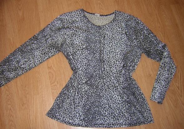 Bluzki Bluzka srebrno czarna pantera