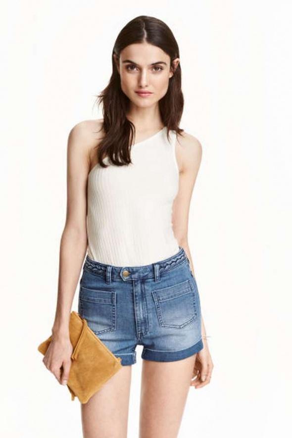 Biały top h&m xs 34 asymetryczna koszulka bluzka...