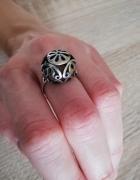 Stary srebrny pierścionek kopuła ażurowa warmet imago pr1...