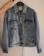 Kurtka jeansowa Bershka oversize jasnoniebieska...