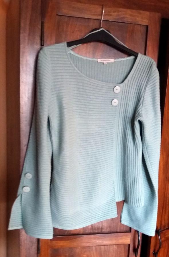 Francuska cienka turkusowa bluzeczka Jaqueline Riu...