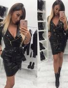 czarna sukienka skorkowa mega sexi