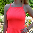 super neon sukienka hm rozkloszowana